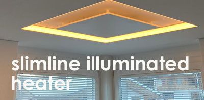 slimline illuminated heater